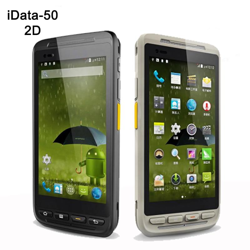 Alta velocidade de 4.7 Polegada Industrial Smartphone Bluetooth 1D/2D Android Handheld PDA barcode scanner a laser Sem Fio 4G de Dados coletor
