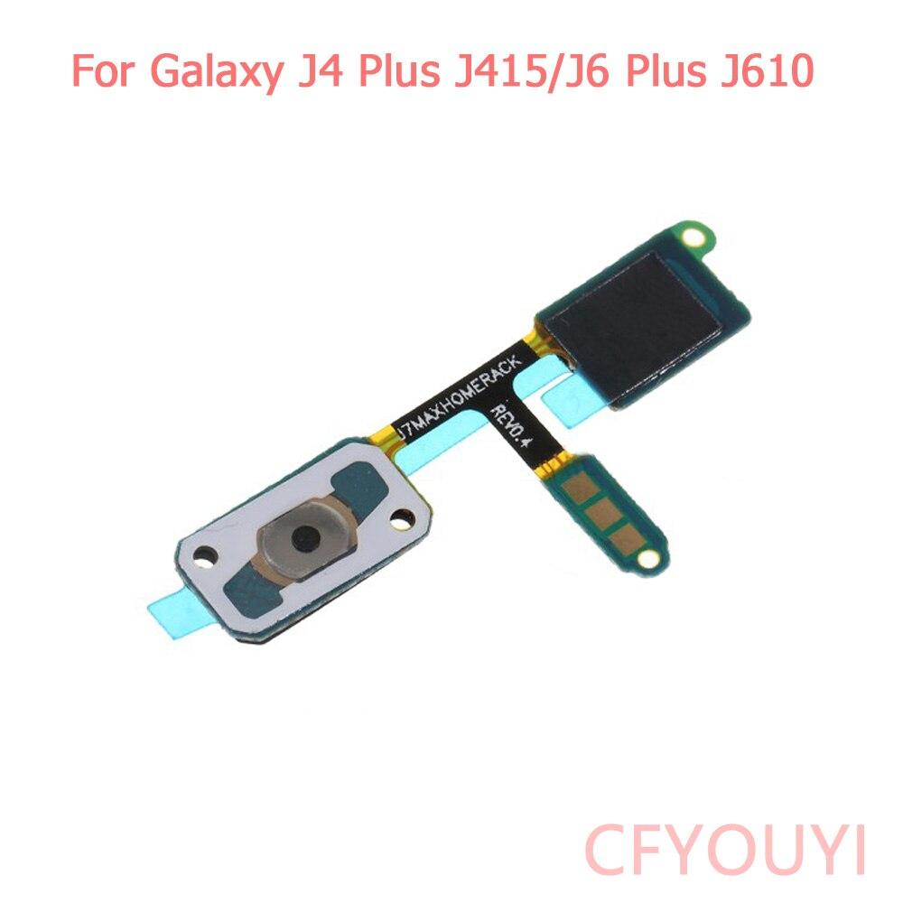 For Samsung Galaxy J4 Plus J415 / J6 Plus J610 J4+ J6+ Home Button Sensor Flex Cable Repair Part