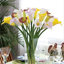 Букеты прикосновения калла лилия венки реального искусственные свадебный декоративные декор цветы