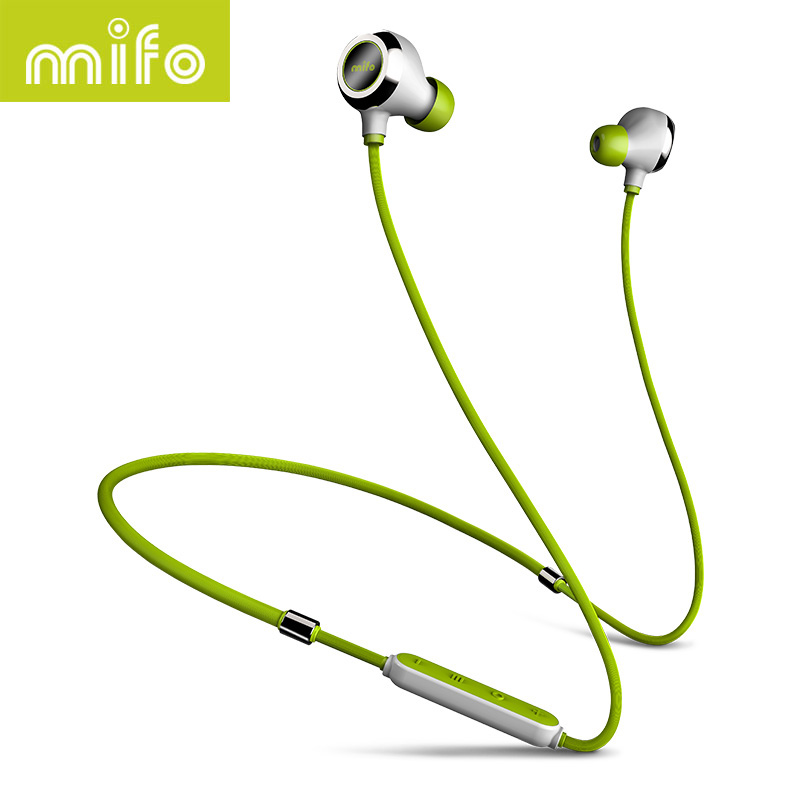 mifo i6 New Neckband Bluetooth Earphone Stereo Music Wireless Headset Workout Sport Earbuds Magnetic In-Ear Earpiece For Phone mini wireless in ear micro earpiece bluetooth earphone cordless headphone blutooth earbuds hands free headset for phone iphone 7
