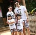 2017 лето Новая Семья Наряды, мать и дочь одежда, Kids Baby Milo Спорт футболка + Брюки Девочек Мальчиков Наряды