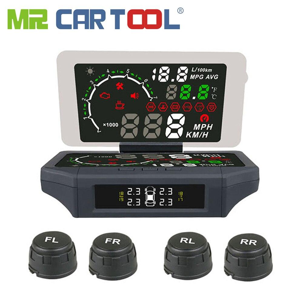 AUTOOL X360 3IN1 автомобилей HUD Head Up Дисплей шин Давление обнаружения TPMS монитор KMH/миль/ч АВТО OBDII Smart HUD держатель