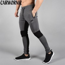 CARWORNIC High Quality Fitness Pants Men Cotton Workout Gyms Fashion Quick Dry Tights Bodybuilding Trousers Male
