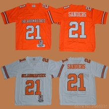 size 40 0c8d4 867b9 spain oklahoma state cowboys 21 barry sanders orange ...