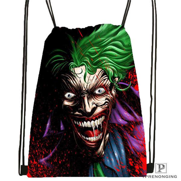 Custom The-joker-batman-arkham @02- Drawstring Backpack Bag Cute Daypack Kids Satchel (Black Back) 31x40cm#180611-03-113