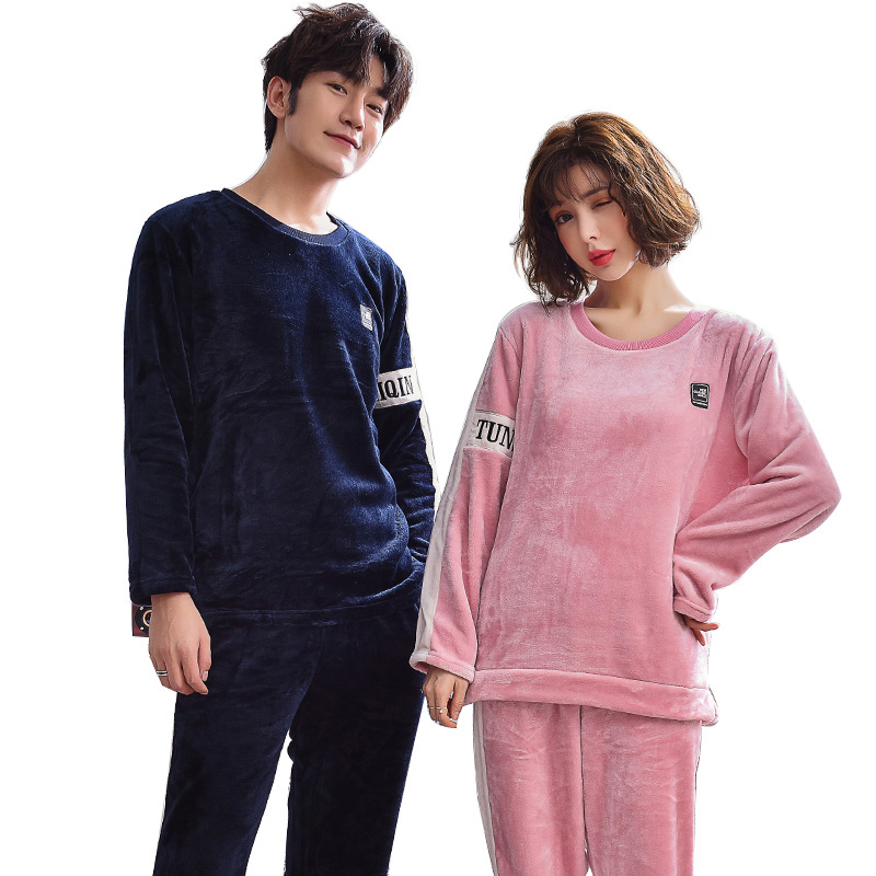 Winter Women Pajamas Set Night Christmas Flannel Cartoon Lovers Homewear Couples Matching adult Pajamas Sets Female Homewear