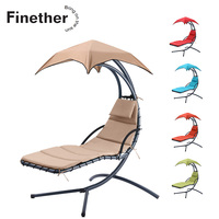 Finether Hanging Chaise Lounge Chair Outdoor Indoor Hammock Chair Swing with Cushion for Patio Beach Bedroom Yard Garden 5 Color