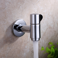 Garden Faucet Washing Machine Brass Water Tap Polished Chromeplate Finish Outdoor Faucet