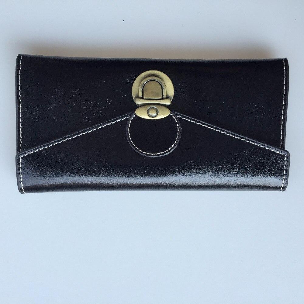 New Fashion Solid Long Hasp PU Leather Famous Designer SINOWEGO Women Organizer Wallet Vintage Female Clutch Purse Small Bag