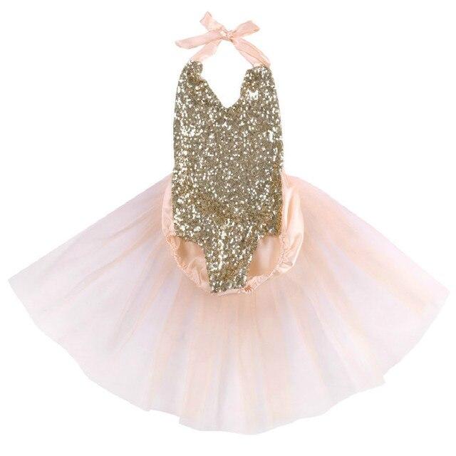 Kinderkleding Babykleding.Kinderkleding Pasgeboren Baby Meisje Kleding Pailletten Backless