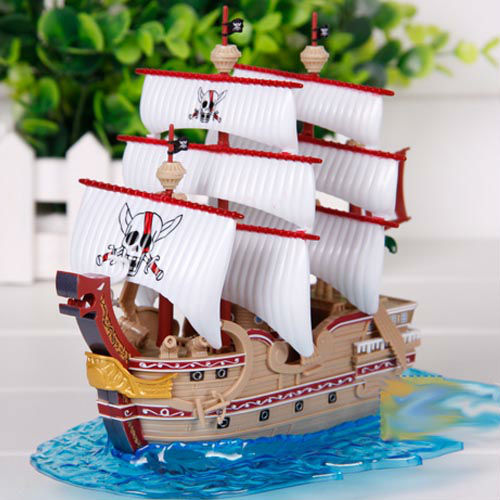 free shipping One Piece Mugiwara Pirates The Red Force Grand Ship figure set b1843