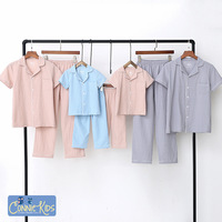 Family Matching Pajamas Suits Boys Summer Sleepwear Bathing Suits Home Clothes Mother and Daughter Clothes Dress Family T Shirts