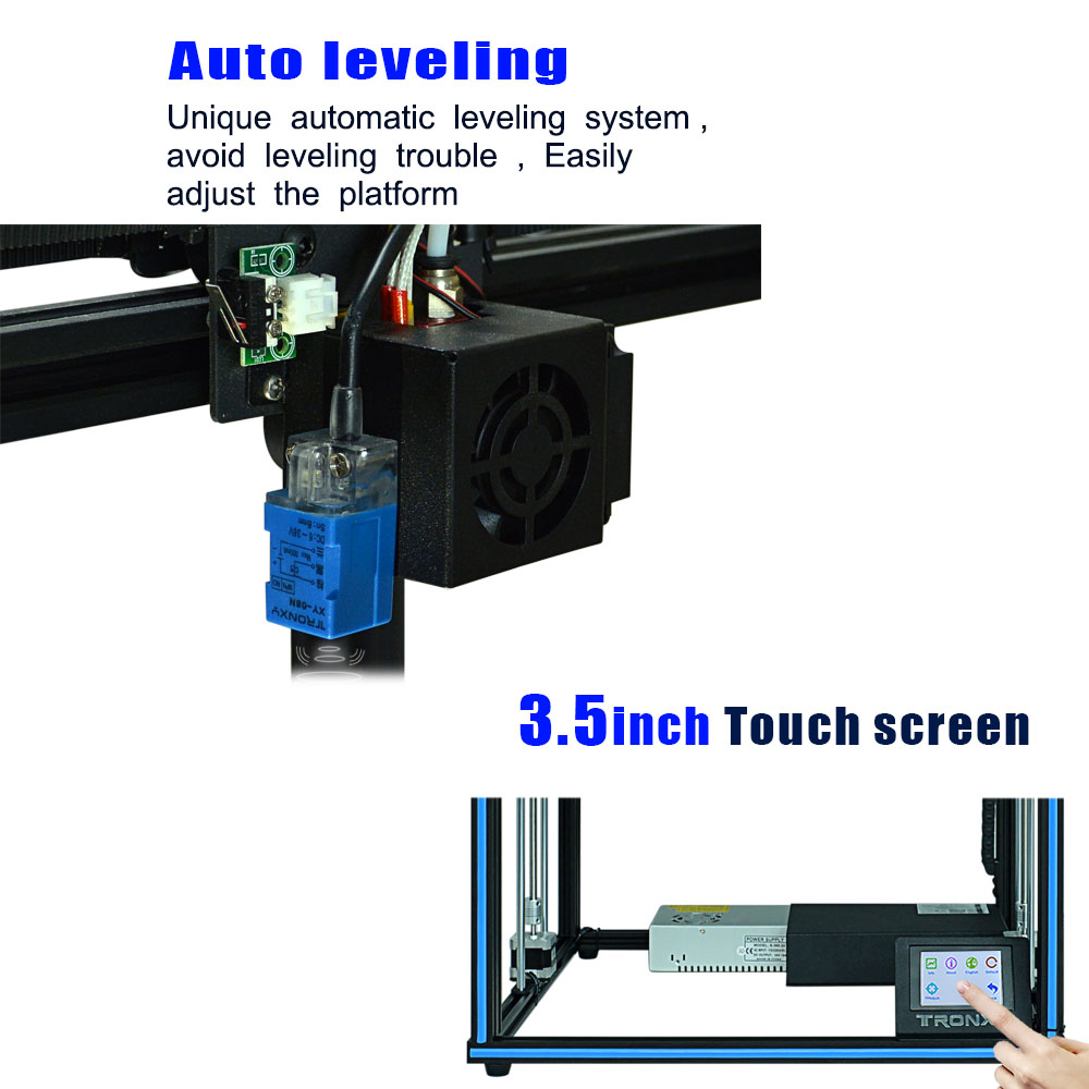 Tronxy 24V upgraded X5SA 3D Printer kit 3.5 inches LCD Touch Screen DIY 0.4mm nozzle high precision Auto leveling 330x330x400mm