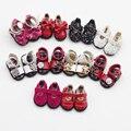 1 Пара бантом PU & Ткань обувь для BJD блайт 1/6 1/8 кукла обувь сандалии размер 3.2 см