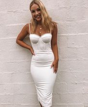 2018 autumn new white sling HL retro lace sweet cute bandage dress star wholesale direct sales(China)