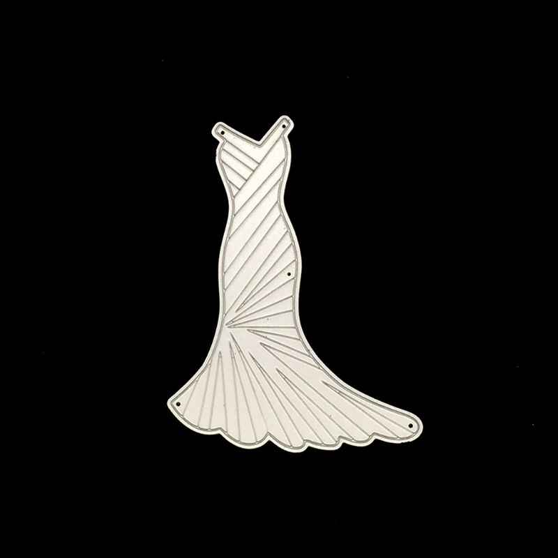 שמלת מתכת חיתוך מת סטנסיל DIY רעיונות גלרית חותמת נייר כרטיס הבלטות קרפט דקור W229