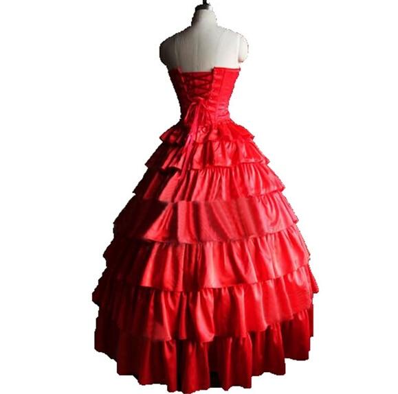 Maria Padilha do Inferno Star Pomba Gira kostuum Red Corset Tiered - Carnavalskostuums - Foto 2