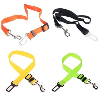 Adjustable Safety Seat Belt Nylon Pets Puppy Seat Lead Leash Dog Harness Vehicle Seatbelt Pet Dog Supplies Travel Clip