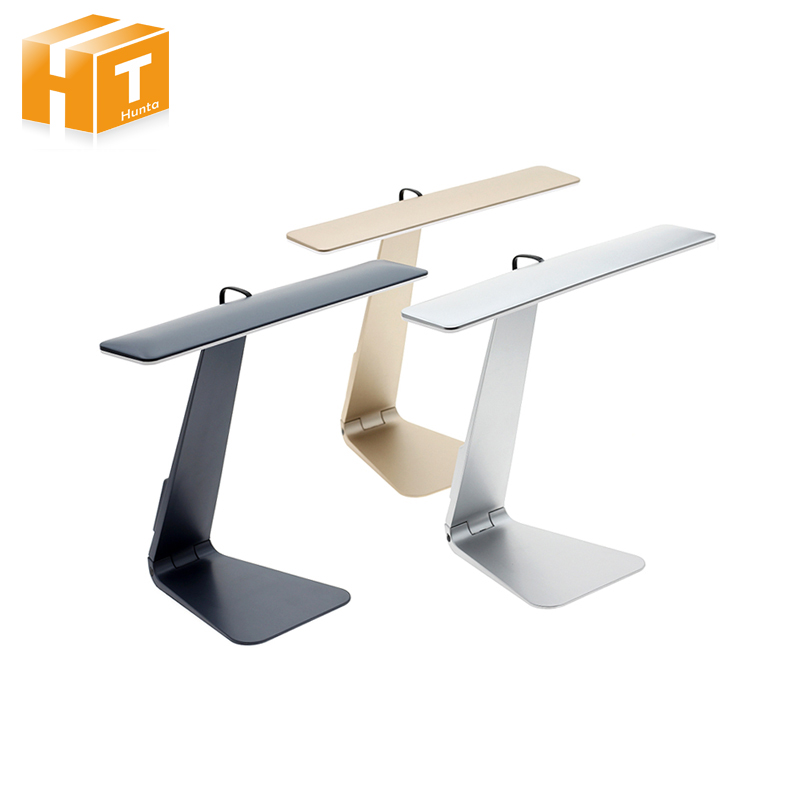 Ultrathin LED Desk Lamps 3 Mode Dimming Touch Switch USB Rechargable Foldable Reading Bedside Table Lamp все цены