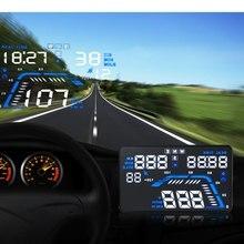 Q7 HUD 5.5 дюймов автомобиля GPS Head Up Дисплей ветрового стекла проектор автомобиля Скорость Предупреждение расход топлива вождение автомобиля данных диагностики