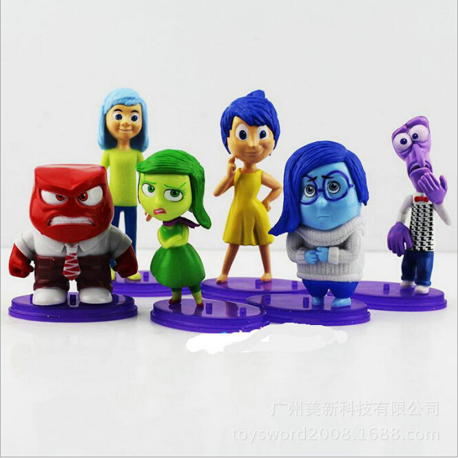 Wholesale <font><b>Inside</b></font> <font><b>Out</b></font> <font><b>Figure</b></font> <font><b>Toys</b></font> <font><b>PVC</b></font> <font><b>Action</b></font> <font><b>Figures</b></font> Doll 2015 Pixar Movie Anger Joy Fear Disgust And Sadness Free DHL 50Sets