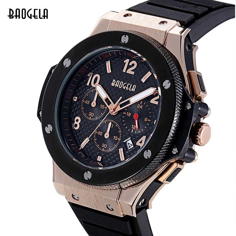 Baogela Army Watch Luxury Brand Analog Sports Wristwatch Display Date Men s Quartz Watch Business Watch