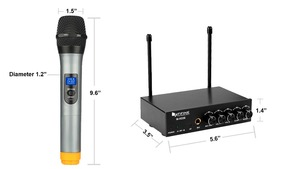 Image 5 - Fifine UHF Dual Channel Microphone System with two Wireless Handheld Microphone for Family KTV Bar Part Small Outdoor Stage K036