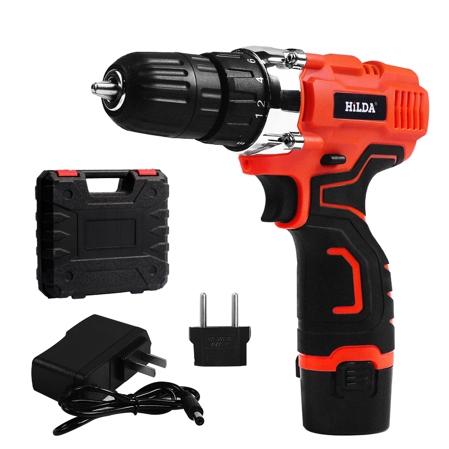 Electric Screwdriver Multi-function Cordless Electric Drill Power Tools + 1pcs Lithium Battery