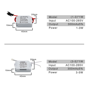 Image 2 - 220V LED Driver Constant Current 300mA 240mA Output 1 50W Power Supply External Lighting Transformer For LED Ceiling Light
