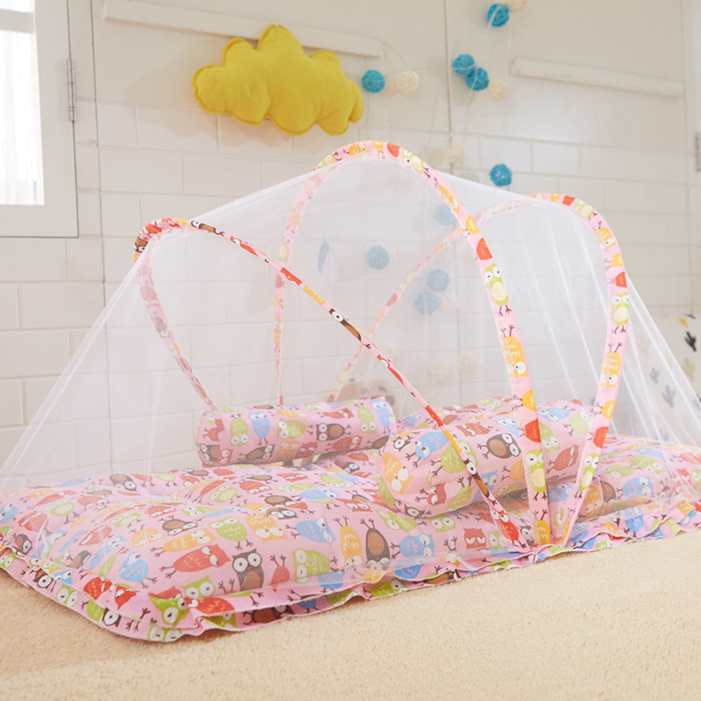 395acafd7 Baby Bed Mosquito Insect Net Folding Mesh Cradle With Sleeping Pillow  Hammocks Outdoor Furniture