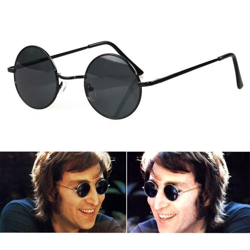 Round Eyeglasses Vintage Circular Shades Black Sunglasses