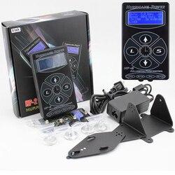 أحدث المهنية تاتو/وشم أسود اللون امدادات الطاقة الرقمية المزدوجة شاشة الكريستال السائل الوشم آلات امدادات الطاقة شحن مجاني
