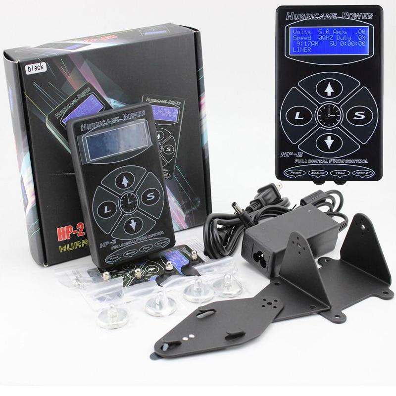 Free Shipping Professional Hurricane Digital DUAL  Black Tattoo Power Supply