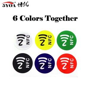 6pcs/lot NFC Tags Stickers NFC213 Label Rfid Tag Card Adhesive Key Tags llaveros llavero Token Patrol(China)