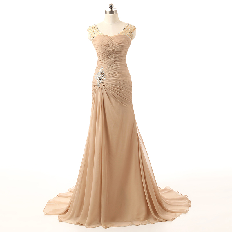 Elegant Green Long Mother Of The Bride Dress