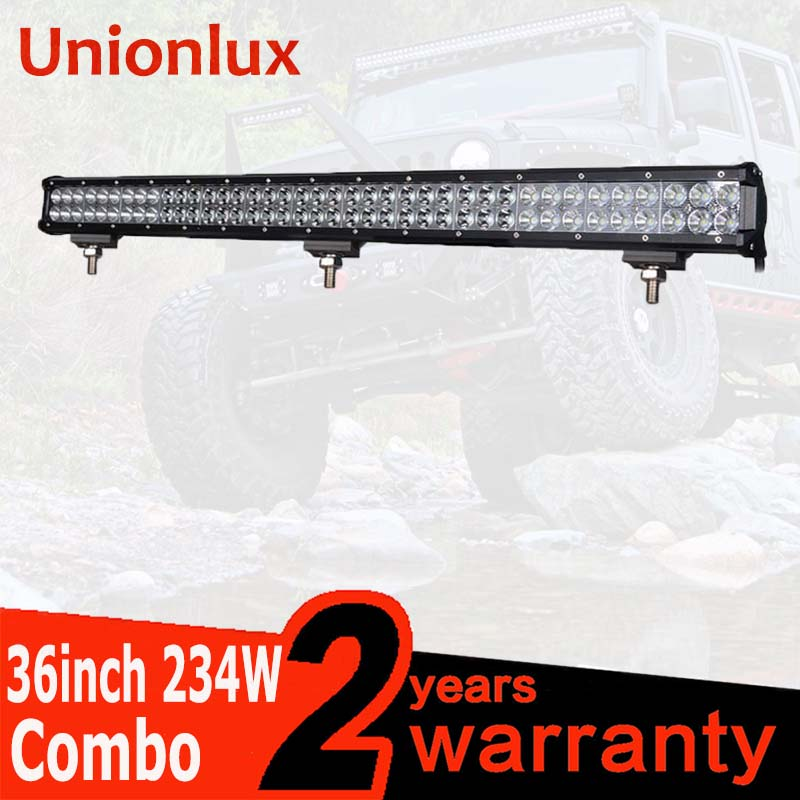 Barre de lumière LED combinée de faisceau d'inondation de tache imperméable de la puissance élevée IP67 de 36 pouces 234 W pour le guide optique de travail de LED d'atv UTV Jeep 4X4