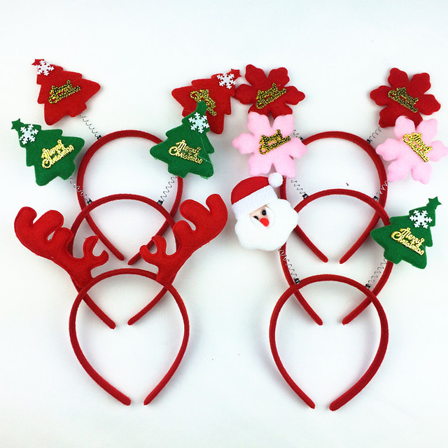 SHUANGR Fashion Christmas Head Hoop Buckle Adult Children Hair Accessories Xmas Decorations Performances Props Girls Headwear