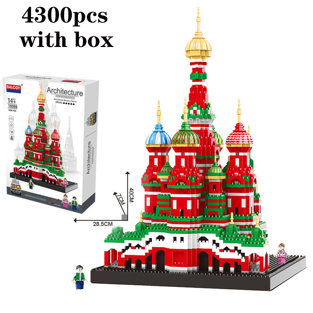 Mini Architecture Model Nano Toys Saint Basil s Cathedral for Children Compatible legoinery Architecture Building Blocks