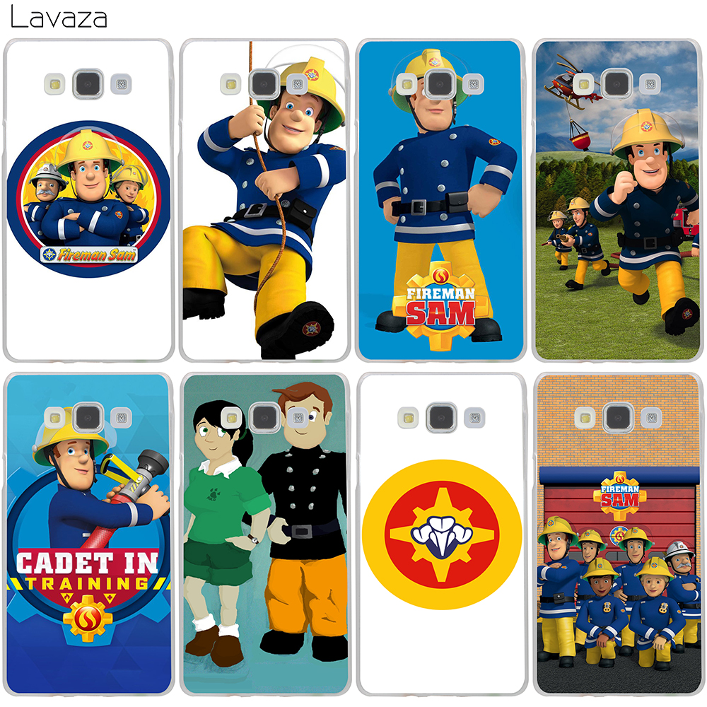 Lavaza Fireman Sam Hard Case for Samsung Galaxy J5 J7 J3 2017 J1 2016 2015 J2 Prime Pro Ace 2018