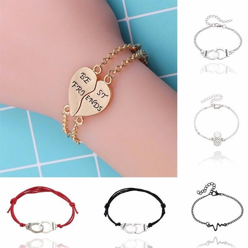 2017 последние модные тенденции наручники Браслеты для Для женщин любителей надписи фридон модная пара браслет ювелирных изделий подарок, оптовая продажа