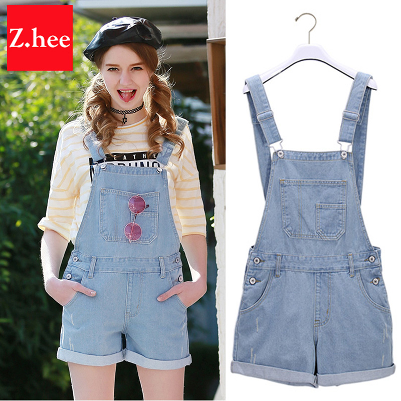 Denim overall shorts for women online shopping-the world largest ...