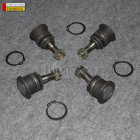 one set 4pieces swing arm ball joint with nuts circlip rings for loncin atv 250atv 300 M atv height 68mm