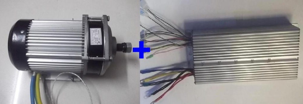 Fast Shipping 2200W 60V DC 36 mofset BC636-22095 1pc brushless motor + 1pc controller E-bike electric bicycle speed control fast shipping dc motor for treadmill model a17280m046 p n 243340 pn f 215392