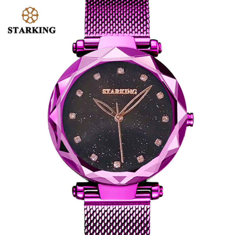 STARKING 30m Waterproof Rose Gold Watch Women Quartz Watches Steel Ladies Top Brand Luxury Female Wrist Watch Girl Clock Relogio luxury brand wallet male mens leather card holder business billfold zipper purse wallets men coin clutch carteira masculina zer