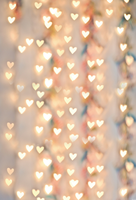 huayi yellow brokeh heart sparkle backdrop birthday background