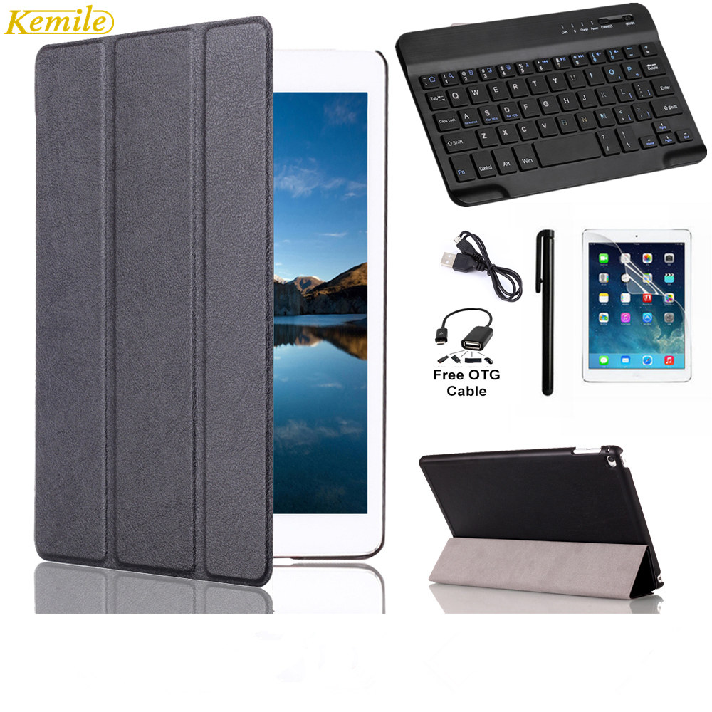 Kemile For iPad mini 4 Case Ultra Slim Lightweight Stand Smart Cover with Auto Sleep/Wake Feature +Wireless Bluetooth keyboard fish king 1 pc 24g fishing lure spoon lure noise sequin paillette carp hard fishing baits with 4 mustad treble hook lure