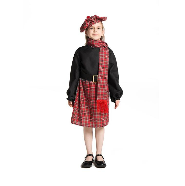 NEW Red Tartan Kilt Mens Scottish Fancy Dress Scotland Party Accessories