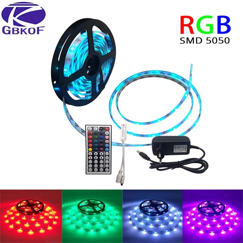 10M 5M SMD5050 RGB LED Strip light waterproof DC 12V Led light-emitting diode tape ribbons flexible neon lights for decoration