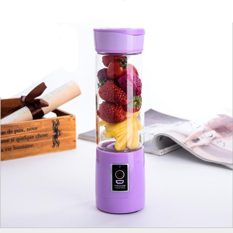 400ml USB Mini Portable 1 minute Juicer Bottle Juice Blender Lemon vegetables fruit Squeezers Reamers Bottle Drop Shipping 400ml portable bpa free wide mouth cool water bottle