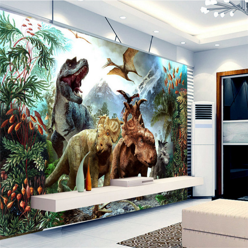 custom modern 3d photo high quality non-woven mural wallpaper large 3d dinosaur mural tv background wallpaper for study room book knowledge power channel creative 3d large mural wallpaper 3d bedroom living room tv backdrop painting wallpaper